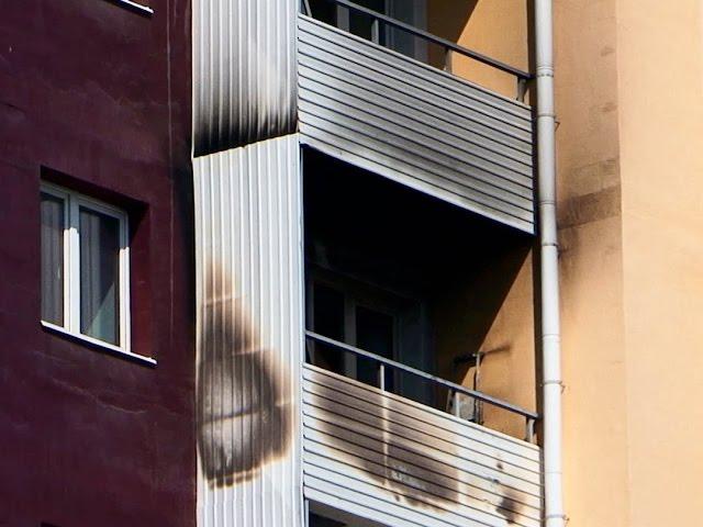 Загорелся балкон