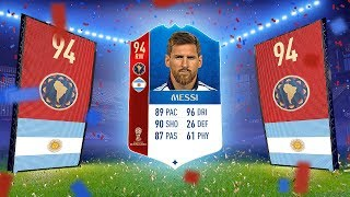 MESSI IN A PACK! - REACTING TO MY BIGGEST FIFA 18 WORLD CUP PACKS!!