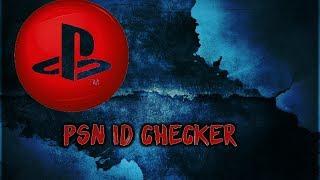 Psn Id Checker
