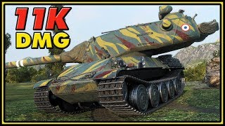 AMX M4 54 - 10 Kills - 11K Damage - World of Tanks Gameplay