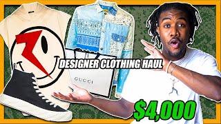 CRAZY DESIGNER CLOTHING HAUL | $4,000 MEN'S LUXURY SHOPPING HAUL With FARFETCH (SPRING SUMMER 2020)