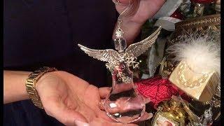 Set Of 4 Crystal Angel Ornaments