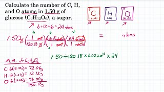 Calculate The Number Of Atoms In Glucose