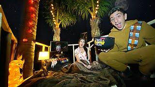 We Stayed OVERNIGHT in a Scary TREEHOUSE w/ my Ex-Girlfriend...