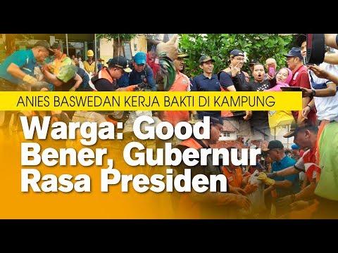Anies Baswedan Kerja Bakti di Kampung Makassar, Warga: Good Bener Gubernur Rasa Presiden