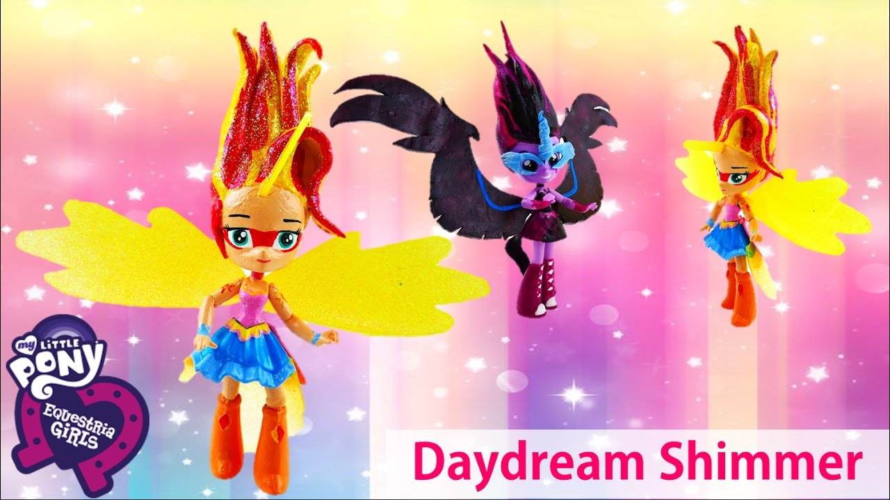 DAYDREAM SHIMMER Sunset Shimmer Doll Transformation My Little Pony Equestria Girls Minis Custom