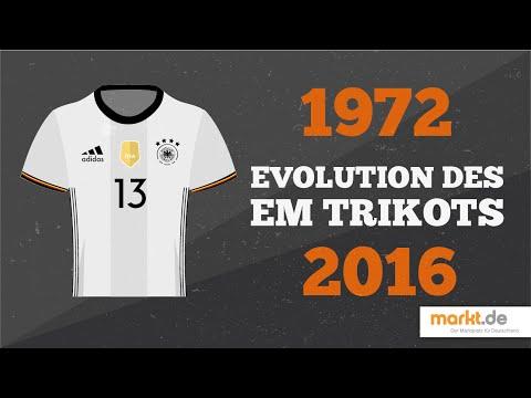 EM Trikots der deutschen Nationalmannschaft im Wandel