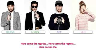 Epik High  - Here Come the Regrets (Feat. Lee Hi) color coded lyrics