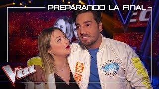 María Espinosa Y David Bustamante Ensayan 'Héroes' | Preparando La Final | La Voz Antena 3