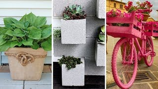 10 DIY Flower Garden Ideas And Containers