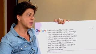 SRK answers the Internet's Most Searched Questions | Shah Rukh Khan