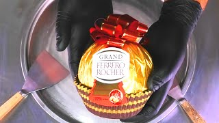Grand Ferrero Rocher - Ice Cream Rolls   how to make most satisfying Chocolate Ice Cream   Food ASMR