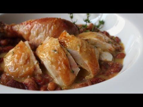 Salt-Roasted Chicken Recipe - Roast Chicken with Thyme Butter Sauce