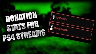 How to add Donation Stats on PS4 Streams [without a Capture Card/OBS/nor Remote Play]