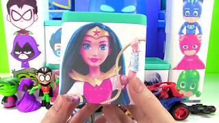 Opening PJ Masks Teen Titans DC Superhero Girls  Boxes