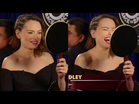 Daisy Ridley on the Jimmy Kimmel show (2017)