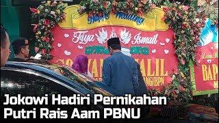 Presiden Jokowi Hadiri Pernikahan Putri Rais Aam PBNU KH. Miftahul Akhyar