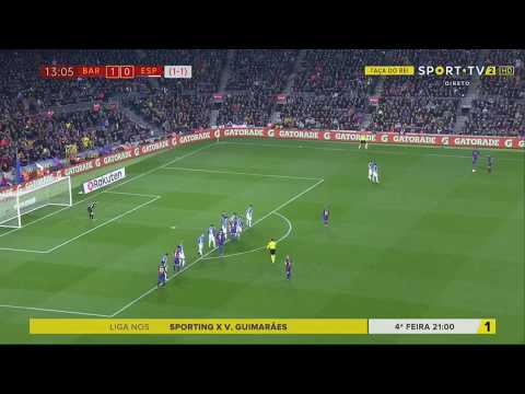 Барселона - Эспаньол 2:0. Видеообзор матча 25.01.2018. Видео голов и опасных моментов игры