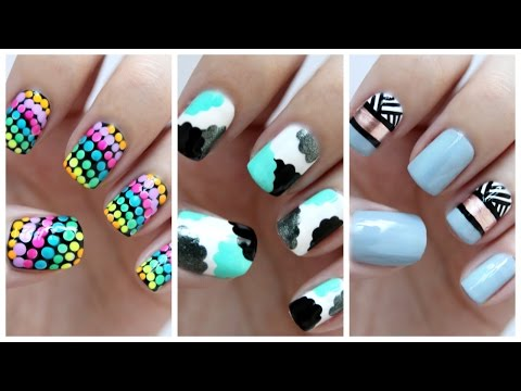 Easy Nail Art For Beginners!!! #23 | JennyClaireFox