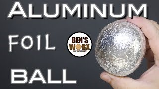 Making a foil ball - Aluminum polishing - Video Youtube