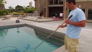 Manual pool vacuum instructions by Matt Cicciarella, President of Creative Pools and Landscaping.
