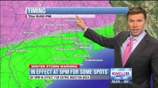 Winter Storm Warning: Ice possible as Houston's temps drop