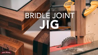 Bridle Joint Jig - One Setup Joinery // Works on the Table Saw or Router Table