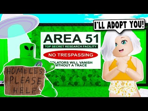 Adopting A Homeless Alien From Area 51 On Bloxburg Roblox - roblox research facility