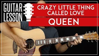 Crazy Little Thing Called Love Guitar Tutorial - Queen Guitar Lesson 🎸 |TABS + Easy Chords + Solo|