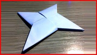 Как сделать из бумаги сюрикен оригами своими руками без клея видео