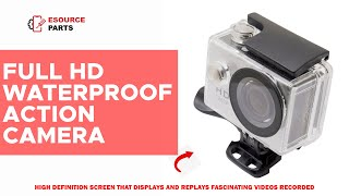 Helmet Action Camera: Full HD 1080p, Wifi & Waterproof