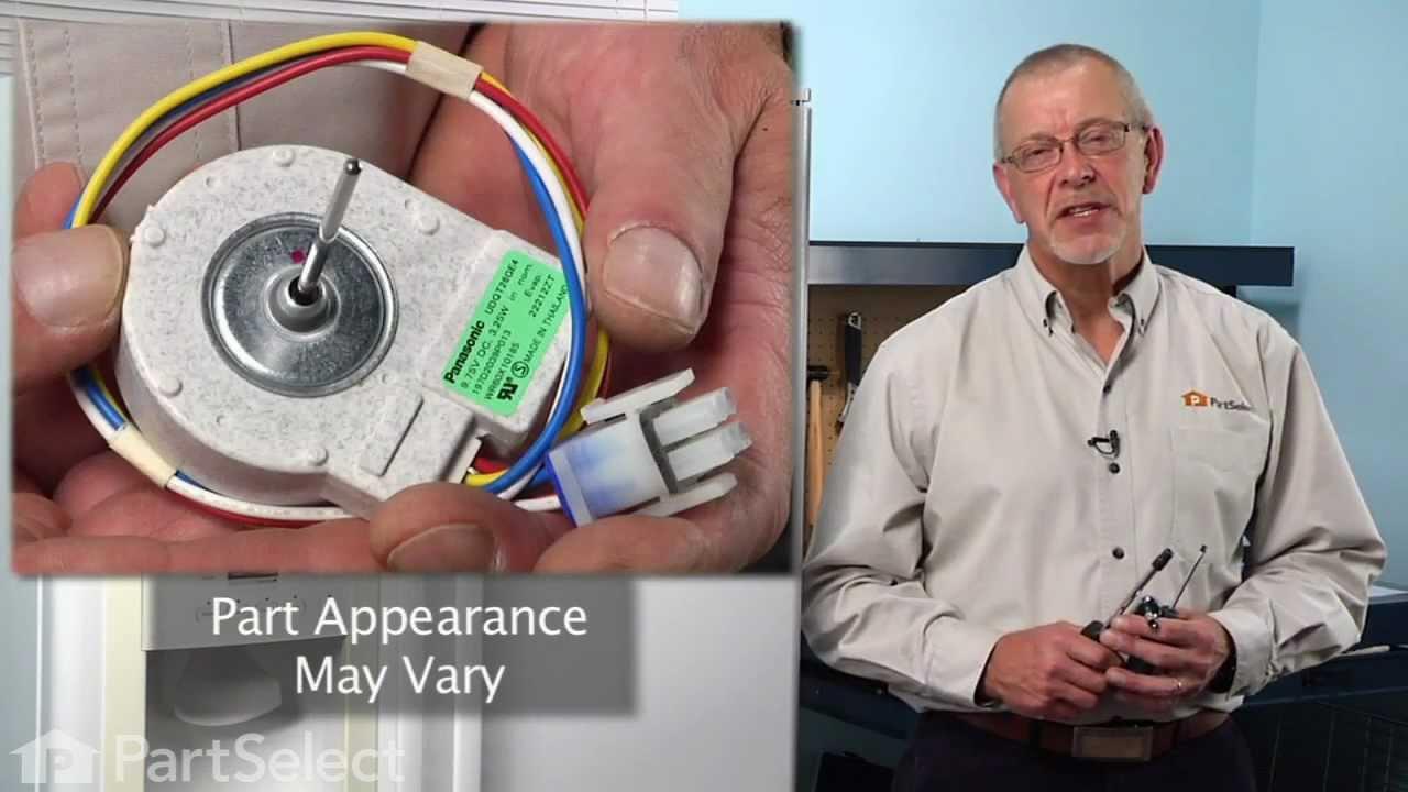 Replacing your General Electric Refrigerator Evaporator Fan Motor