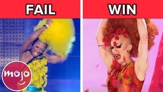 Top 10 RuPaul's Drag Race Wig Reveal Wins & FAILS