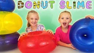 Find Your Slime Ingredients Challenge! Crazy Giant Donut Balloons Scavenger Hunt!