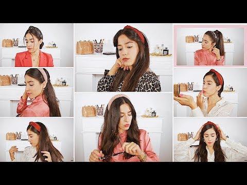 Modisches Hairstyling: 7 schnelle & einfache Frisuren mit Haarreifen & Outfit Ideen   Modetrend 2019