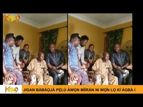 Nollywood Actor Kunle Afod among Others  Visits Ailing Baba Suwe In His Home As he seeks for help.