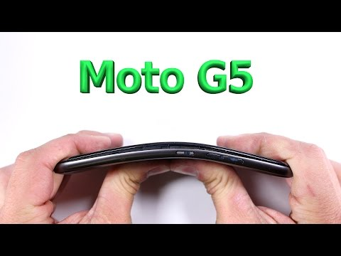 Moto G5 Durability Test - Scratch and Bend tested