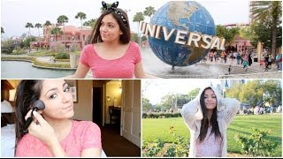 Getting Ready: Theme Park Makeup & Outfits!
