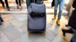 Lugging Luggage in Venice, Italy