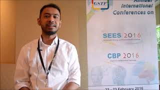 Mr. Cantyo Atindriyo Dannisworo at CBP Conference 2016 by GSTF