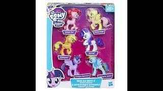 Overview/Review of the My Little Pony Meet The Mane 6 Ponies Collection