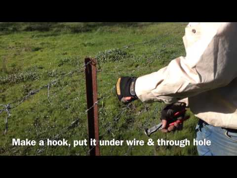 How to use tie wire