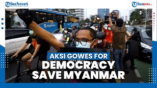 Aksi Gowes For Democracy Save Myanmar