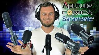 5 недорогих накамерных микрофонов. Кто лучше?  Saramonic, Comica или Aputure? Обзор и тестирование.