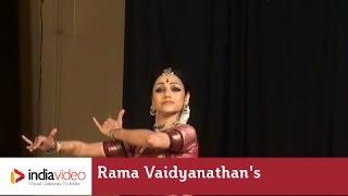 Rama Vaidyanathan's Bharatanatyam on Navarasa Mohana