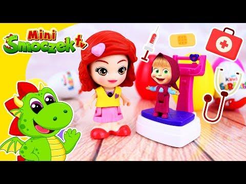 Masza i Niedźwiedź: Masza u Lekarza! Jajka Niespodzianki Zabawki Bajki Dla Dzieci Po Polsku