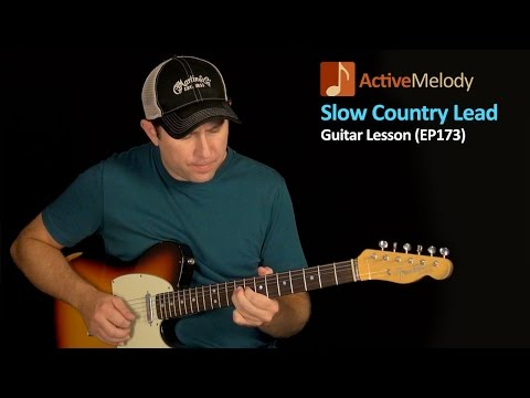 Slow and Easy Lead Country Guitar Lesson - Country Lead Guitar Lesson - EP173