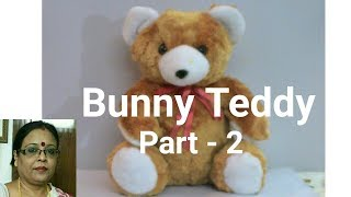 Handmade Bunny Teddy Making Part - 2 /Soft Toys Making/Debjani Creations Tutorial