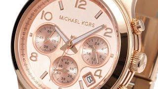 6f58c2e46df1 MICHAEL KORS WATCH MK5128 RUNWAY ROSEGOLD CHRONOGRAPH REVIEW マイケルコース 腕時計  ローズゴールド レビュー