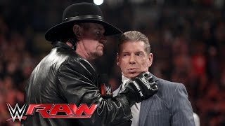 The Undertaker issues a chilling warning to Mr. McMahon: Raw, February 29, 2016